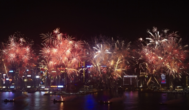 CNY Firework at Hong Kong Harbour City - AspirantSG