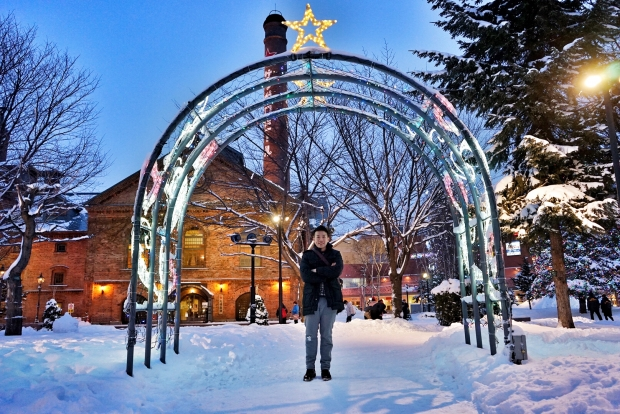 Christmas Decorations Outside Sapporo Beer Museum - AspirantSG