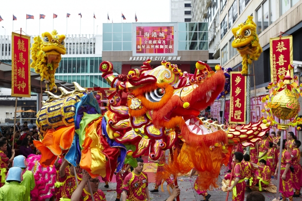 Harbour City CNY Dragon & lion dance - AspirantSG