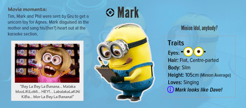 Mark Despicable Me Minion - AspirantSG