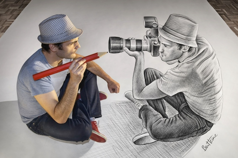 Ben Heines 3D Pencil vs Camera Artwork - AspirantSG