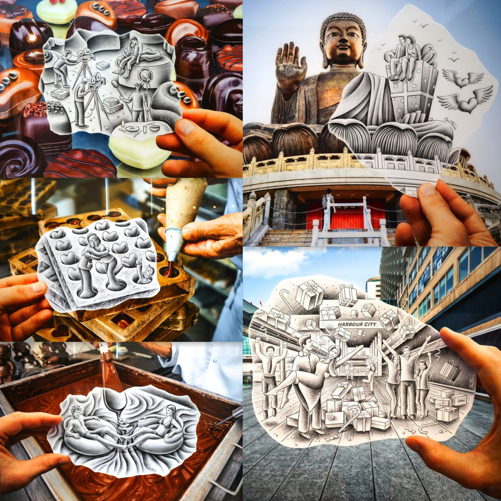 Ben Heine Presents From Cocoa To Choco Art