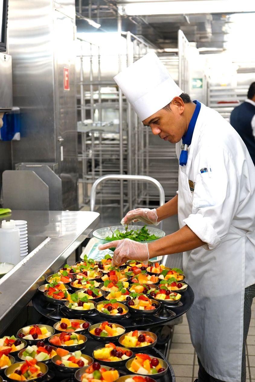 Salad Preparation On Mariner Of The Seas Royal Caribbean - AspirantSG