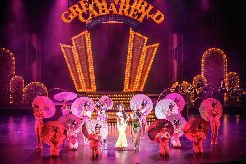 Great World Cabaret 3 Hot Ladies delivering Flaming Flower Medley - AspirantSG