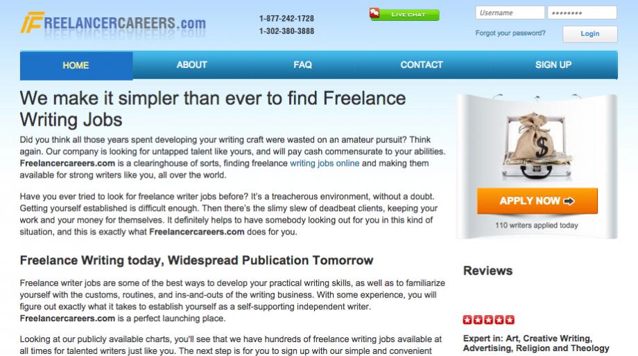 FreelancerCareers Website