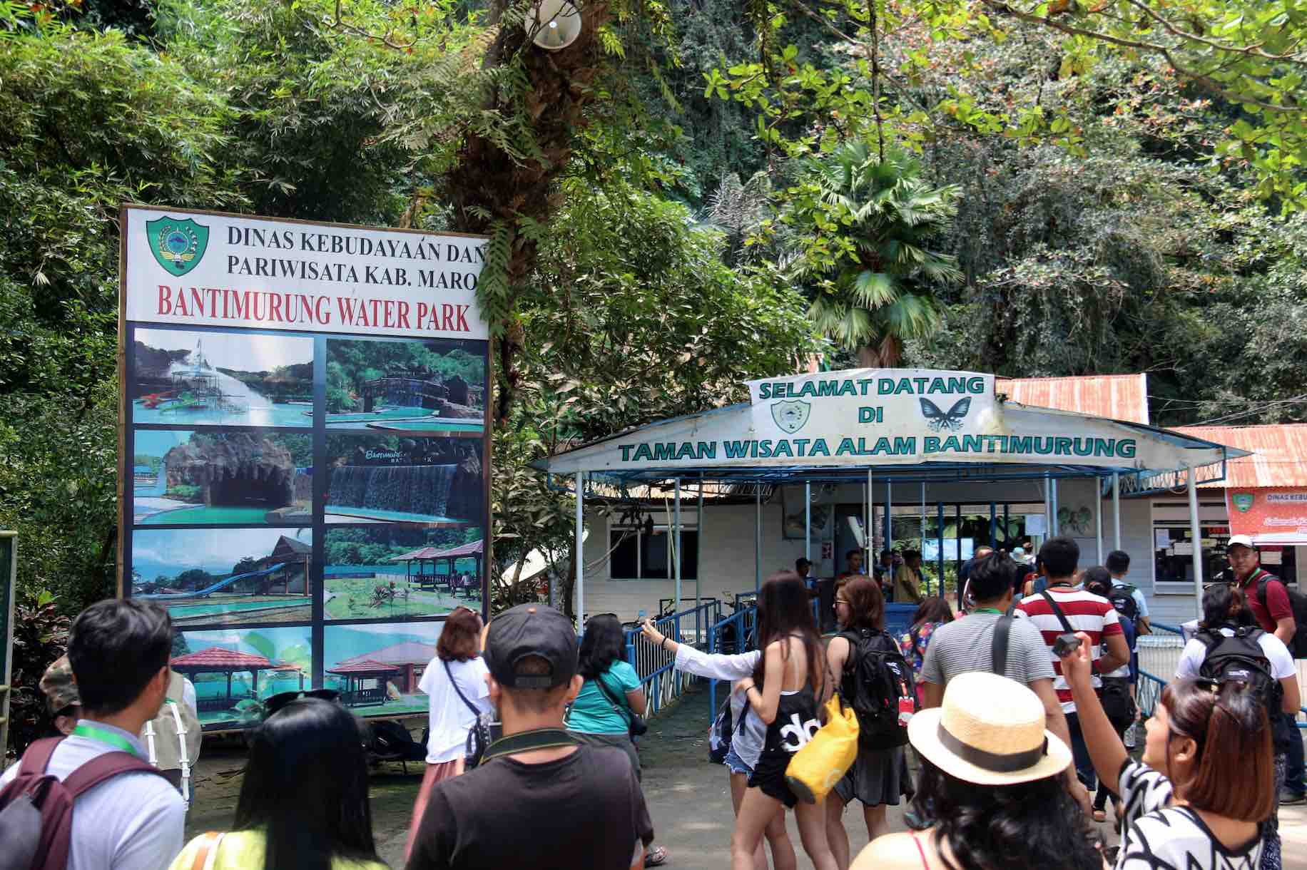 Entrance of Entrance to Bantimurung Bulusaraung National Park - AspirantSG