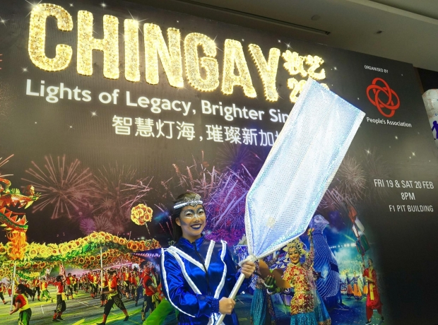 Chingay Lights Of Legacy Performer Vinny - AspirantSG