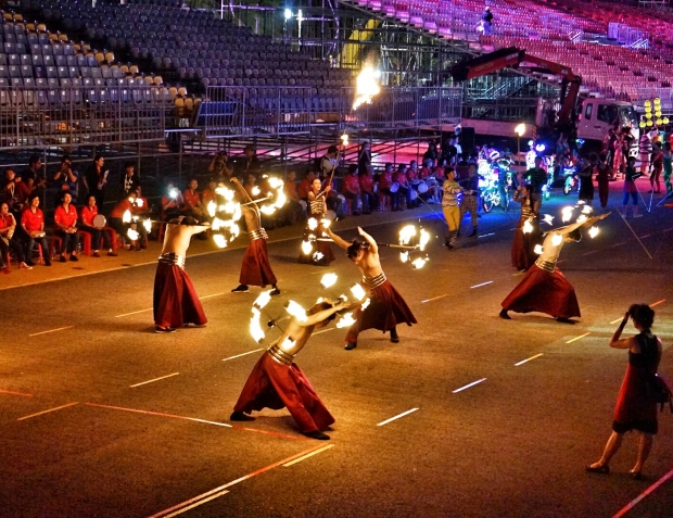 Chingay 2016 Fire Performers - AspirantSG