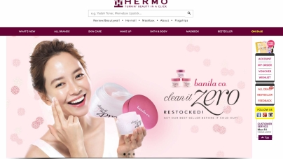 Hermo, Malaysia Top Beauty e-tailer Launches In Singapore