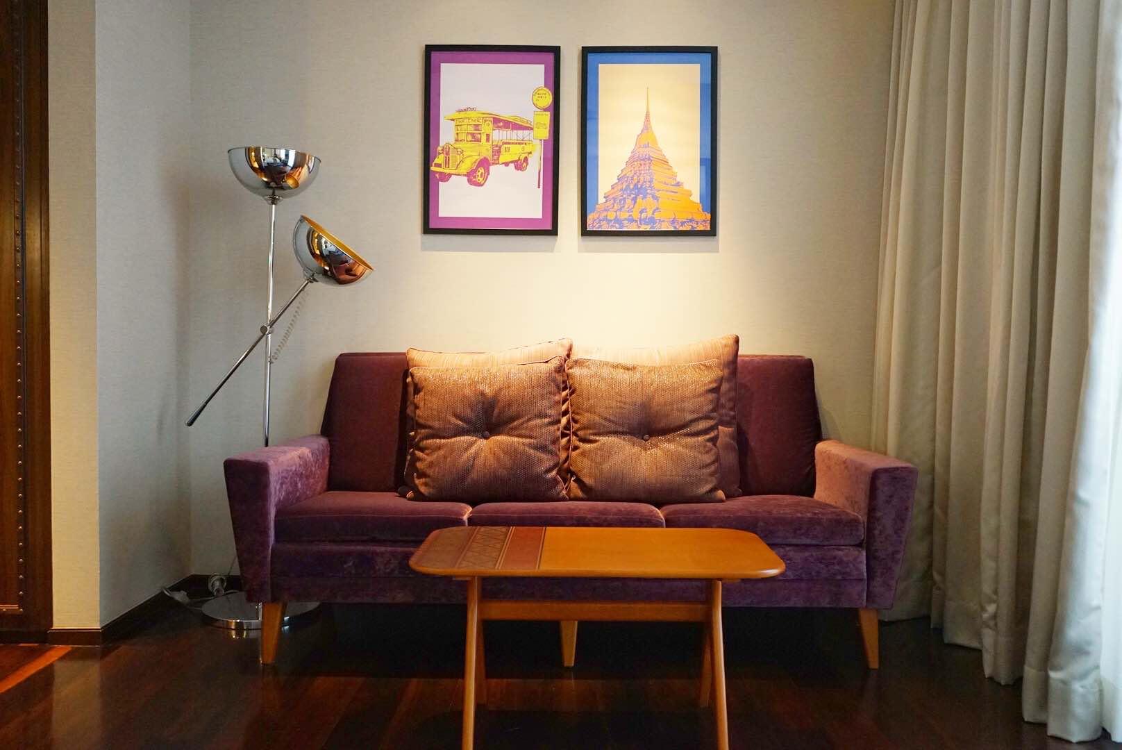 Hotel Indigo Bangkok Room Sofa - AspirantSG