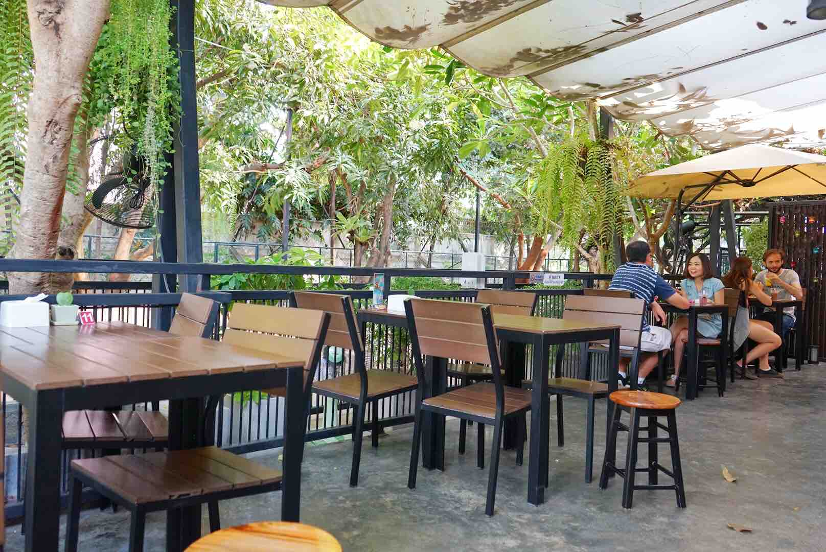 Outdoor Seating Area At Neverland Siberian True Love Cafe, Bangkok - AspirantSG