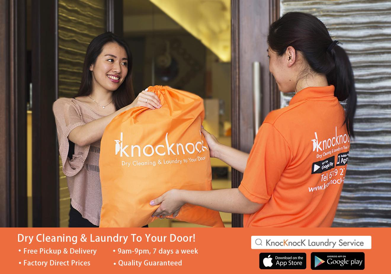 Knocknock Dry Cleaning and Laundry to your door - AspirantSG