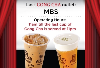 Last Day For Gong Cha At MBS Before LiHO Takes Over Islandwide