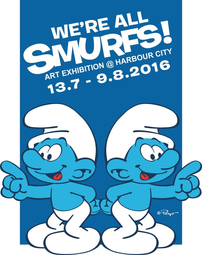 We are all SMURFS! Art Exhibition At Harbour City Hong Kong - AspirantSG