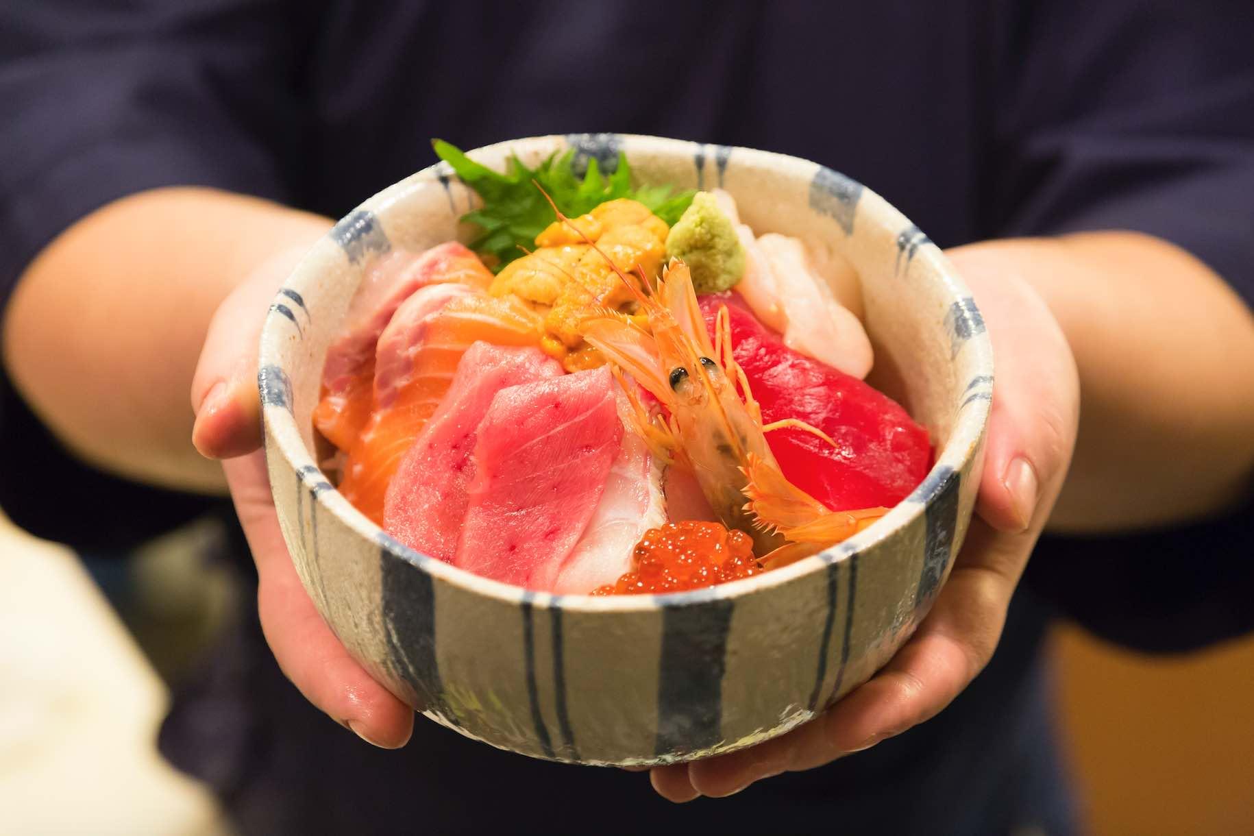 Tempura Tsukiji Tenka Sushi Bowl Japan Food Town Singapore - AspirantSG
