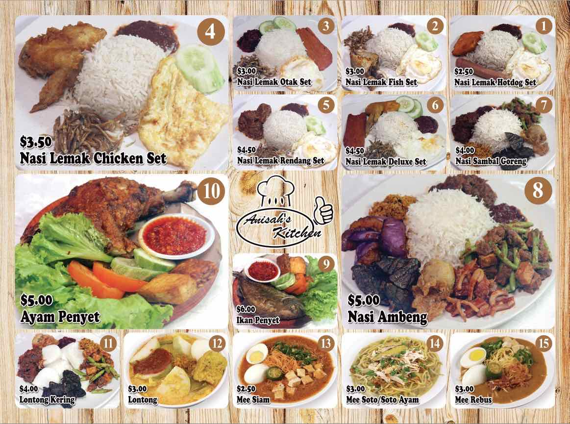 Anisah Kitchen Menu - AspirantSG