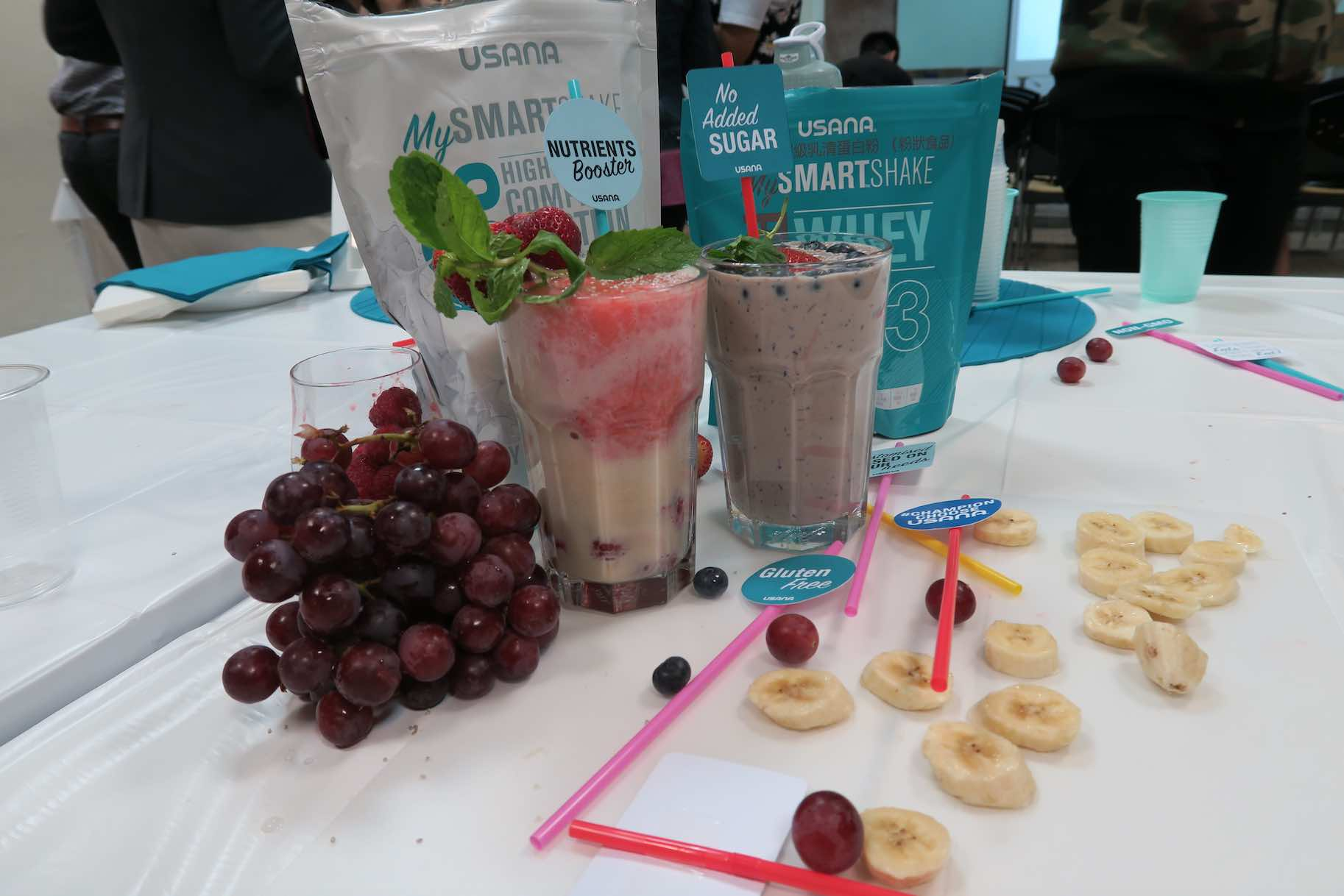 USANA Shakes are great with grapes and bananas too - AspirantSG