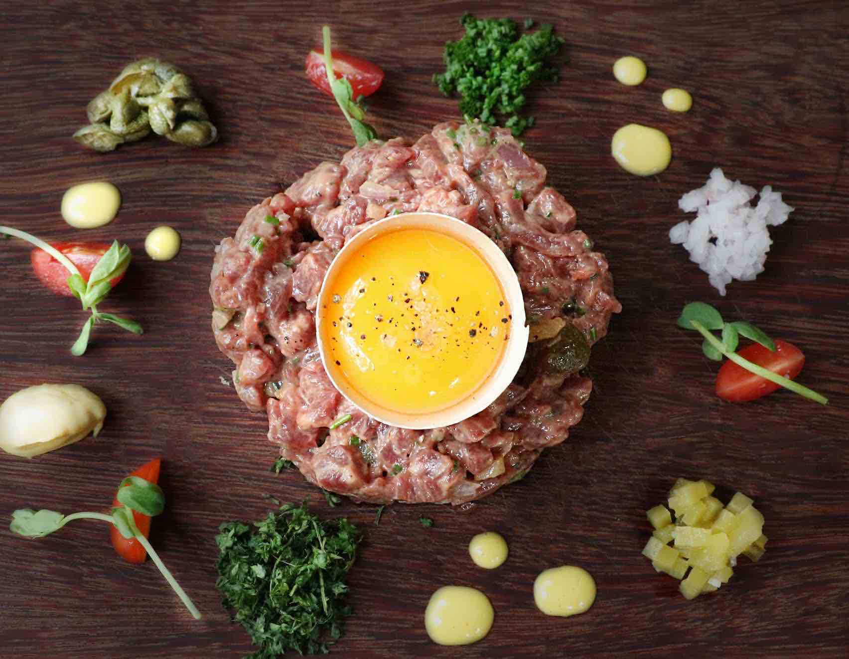 Brussels Sprouts Steak Tartare - AspirantSG