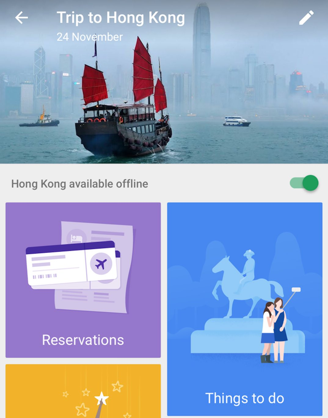 how to change reservations in google trip