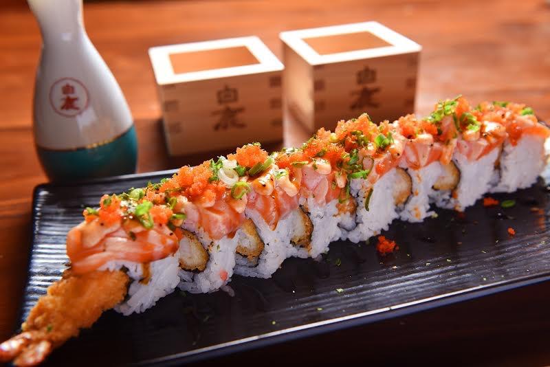 JJ Fish Mart Breaded Shrimp with Salmon Aburi - AspirantSG