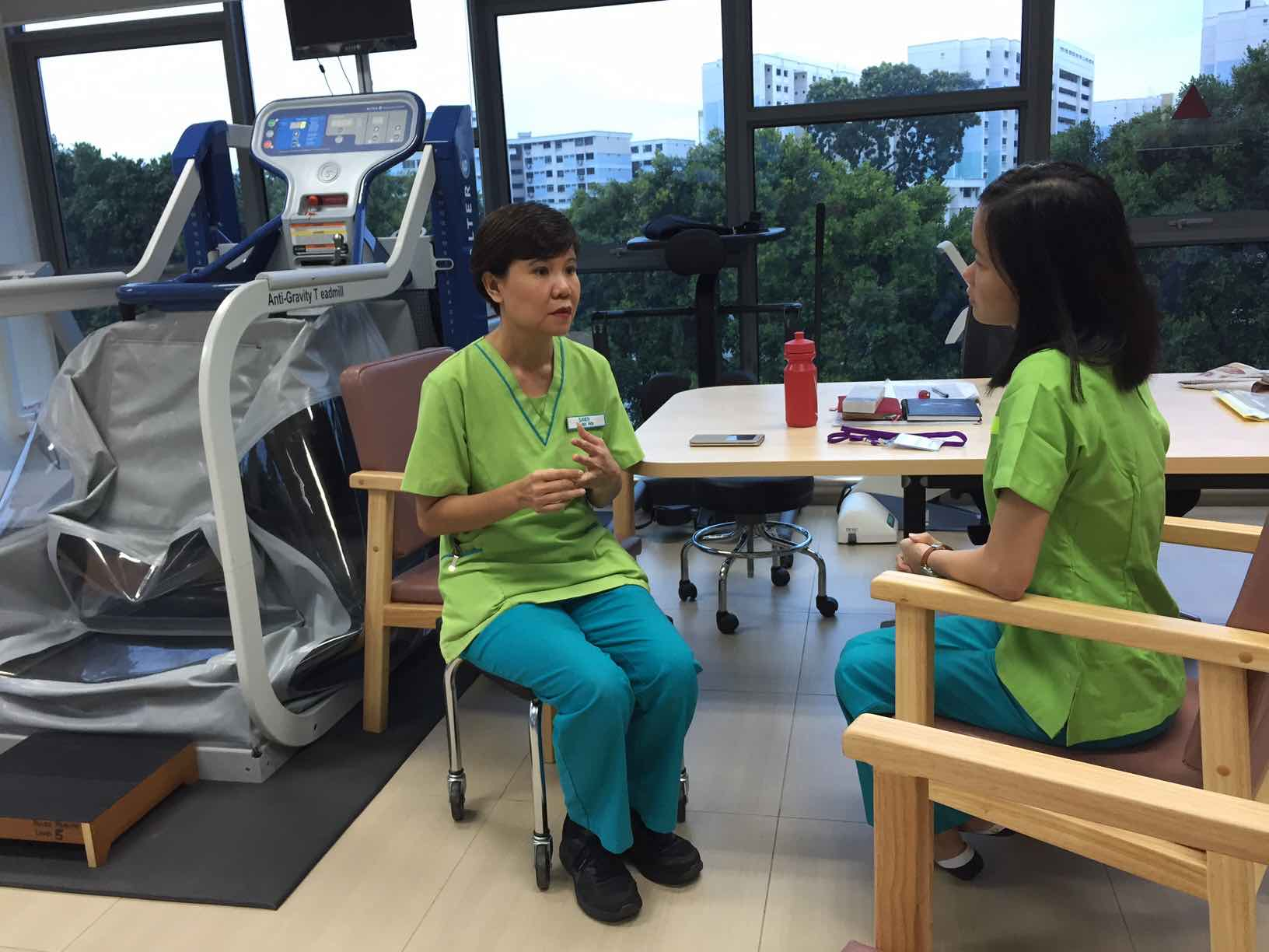 sandy-briefing-me-at-ntuc-health-nursing-home-rehabilitation-facility-aspirantsg