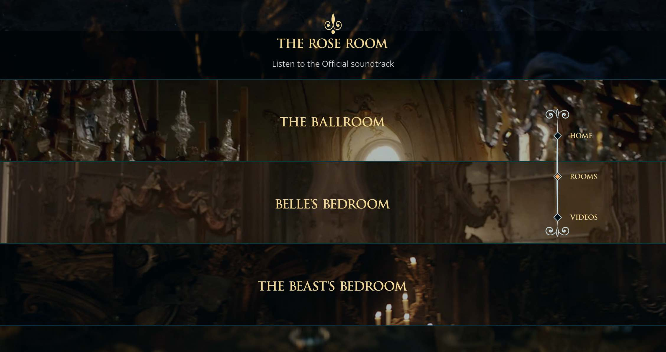 Beauty and the beast belles bedroom - Each Of The Rooms Has A Bespoke Curated Spotify Playlist And Features Beautiful Photography From The Film The Beauty And The Beast Microsite Also Features