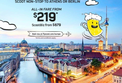 Scoot Berlin – Fly SGD$239 To Scoot's 3rd Long-haul Destination!