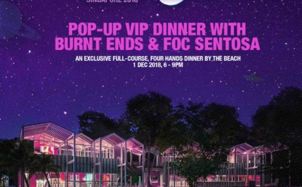 ZoukOut Singapore 2018 Pop-Up Dinner With Burnt Ends & FOC Sentosa