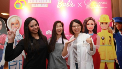 Barbie 60th Anniversary – Singapore Flyer Flights & Collectible Dolls